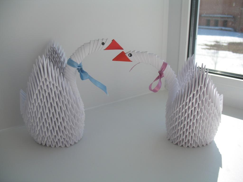 ёлочный шар из модульного оригами схема